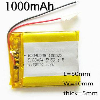 Быстрая доставка 3.7 В 1000 мАч 504050 литий-полимерный липо аккумуляторная батарея ...