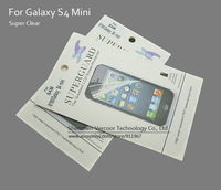 Super Clear Samsung Galaxy S4 Mini Anti-Scratch Screen Protector, Imported PET Material, Retail Packing