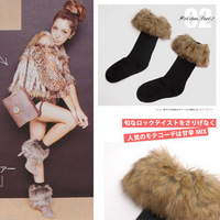 2pairs/lot, free shipping, classic woolly fur flanging snow fall and winter sock  women's sexy floor socks wholesale Ll071605
