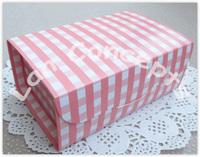 Free Shipping DIY Party Cake Box Baking Food Favors Packaging  - pink 36pcs/lot C0018A