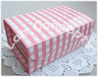 Free Shipping DIY Cardboard Party Cake Box Baking Food Favors Packaging  - pink 36pcs/lot C0018