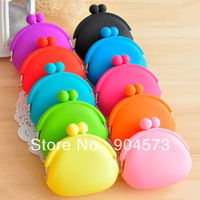 100pcs/lot Silicone Coin Purse Lovely Coin Bag Silicone Money Bag Puse Japanese Style Coin Wallet