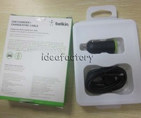 Original BELKIN Car Charger+Charge SYNC Cable for iphone  ipod ipad ipad mini  30pcs/lot  DHL