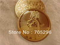 Eid Mubarak , Best gift whoelsale 5000pcs/lot 24k gold plated Eid Mubarak coin  Fedex free shipping  , commemorative coin