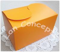 Free Shipping DIY Paper Party Cake Box Food Baking Favors Packaging  - orange 36pcs/lot LWB0342