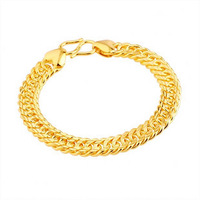 Christmas gift Pure gold High artificial gold bracelet eternal classic male bracelet luxury gold bracelet