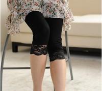 free shipping Maternity summer legging maternity basic capris 100% cotton legging thin lace maternity pants