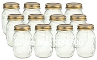 "5.3""H country mason jar with lids USD36.00 for 6pcs/Each USD6.00"