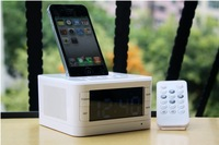 Stereo alarm clock radio charging docking station Speaker for iPod iPhone Mp3 Player