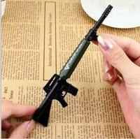 Free Shipping  Creative gun through the firewire neutral pen shape