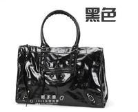 Celebrity fashion classic designer brand women's XL oversize rivet motorcycle Bags shoulder Tote handbags travel bag Free Ship