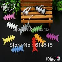 Colourful fish bone shaping bobbin winder cable bobbin winder earphone cable tidy