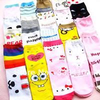 Factory directly! Adult cute  Korean cartoon socks lady's multicolor straight socks 10pairs/lot free shipping