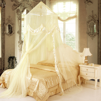 Luxurious nobility royal double door dome oversize princess mosquito net 2 - 3 meters plus size bed round bed general