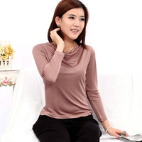 Spring new arrival mulberry silk top sweater women long-sleeve basic shirt