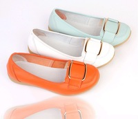 Super-soft 2013 autumn flat heel genuine leather women's single shoes shallow mouth flat shoes low-top