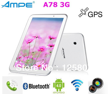 Ampe A78 3G Version 7 inch IPS Screen Qualcomm Dual-core +GPS+Bluetooth+3G phone Call Tablet PC Freeshipping