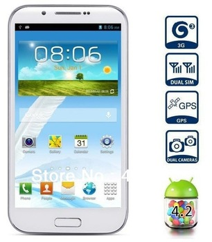 Galaxy Note 2 Quad Core Feiteng H7189 android 4.2 5.3 inch QHD Screen CPU 1.5GHZ 8.0 MP Camera 1GM ram 3G phone Free Shipping