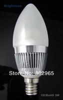 Epistar 3W 300LM E12 LED Bulbs LED candle bulbs for crystal lights