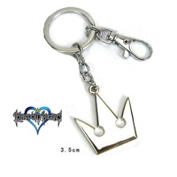 Free Shipping Kingdom Hearts II Sora Roxas Keyblade/Key Blade Crown Pendent KeyChain Ring Cosplay