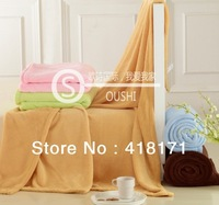 Retail! High quality Coral Fleece Blanket Soft 150*200CM Bedding/towel blanket solid color multi-color for choosing Freeshipping
