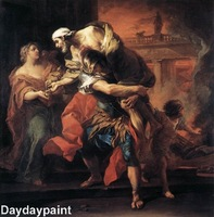 Hand Painted Religious Oil Painting Aeneas Carrying Anchises FREE SHIPPING