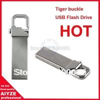 Waterproof Metal Usb Flash Drive STICK High Speed 4GB 16gb 32GB  Tiger buckle model U2182