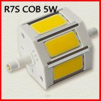 Free shipping R7s 3 COB LED Spotlight Light Lamp Bulb 5W 79mm 400lm High Power