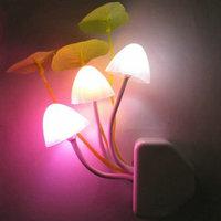 2013 LED light control sensor light &Mushrooms Colorful Night Light&Unpluggedsaving ideas bedside lamp&Baby wall lamp