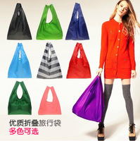NEW Candy Color Big Size Foldable Reusable BAGGU Carry Tote Shopping Bag Set