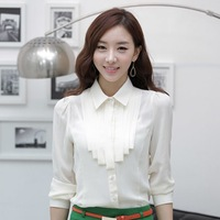 Autumn new arrival 2013 chiffon shirt women's long-sleeve work wear ol slim long-sleeve shirt female