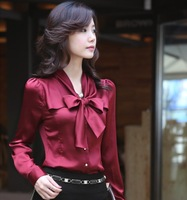 2013 autumn women's ol slim chiffon shirt long-sleeve shirt female fashion elegant shirt