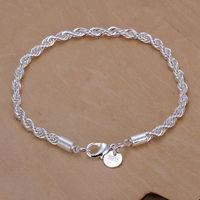 2014 Hot Style! Wholesale 925 silver bracelet, hot sell 925 silver fashion jewelry Shrimp Lock Bracelet&Bangle H207