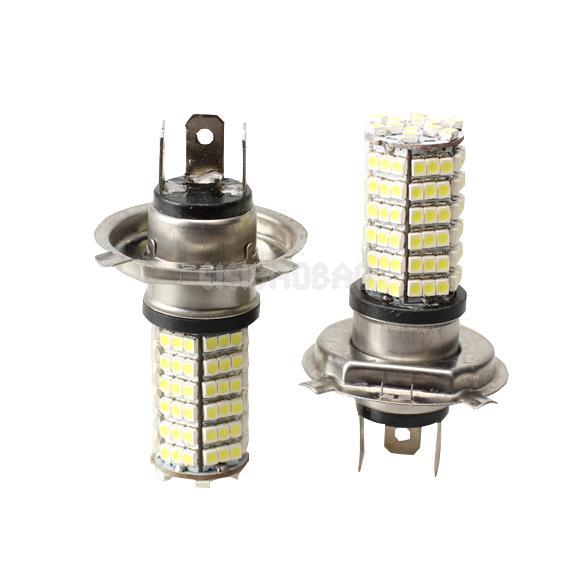 2X Car Auto 120 LED 3528 SMD H4 White Fog Light Driving Headlight Lamp Bulb 99% Area Free Shipping #gib(China (Mainland))