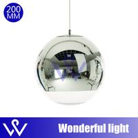 FREE SHIPPING  20cm Tom Dixon Shade Mirror Ball Light Pendant Chandelier Lamp Bulb