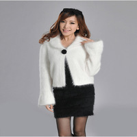 2014 V-neck Hot Sale Fasion Knitted Sweater Fashion Quality Marten Velvet Small Cape Cardigan One Design Outerwear Angora Female