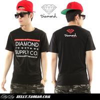 Diamond diamond male summer bboy hiphop hip-hop hiphop tee male T-shirt loose short-sleeve shirt