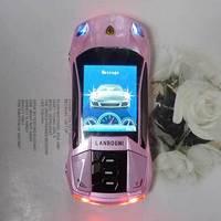PINK mini F8 Sports car Unlocked cell phone Quad Band Dual SIM MP3 mobile phone