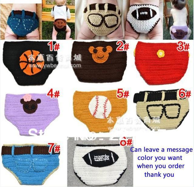 Retail Free Choose Handmade Baby wool Underwears Children Cartoon Bread Pants Kids Wear Free Shippnig(China (Mainland))