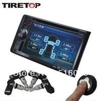 TireTop TT288 DVD TPMS With 4 Sensors For Car DVD Gps Car DVD Player Internal Sensor Tire Pressure Sensor TPMS DVD Free Shipping