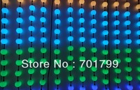 40pcs 50mm WS2801 full color milky ball;waterproof,DC12V input;1.44W;double side with 3pcs 5050 leds each side