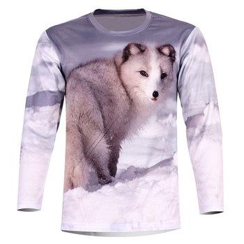 Cool personalized snow wolf 3d print long sleeve o-neck XS-6XL plus size slim autumn t-shirt men's clothes  TCQ579
