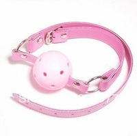 Both men and women Pink PVC Hollow out Plug Sex toys Mouth the ball Mouth yoke