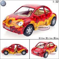 Kinsmart vw beetle colored drawing version of alloy car model