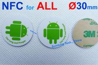 5pcs Waterproof NFC Tag Sticker for Android mobile phones Galaxy S5 Note 3 Mega Nexus 6 wp8 Lumia Padfone Vivo Xplay Desire