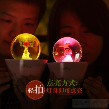 Bonsai lamp multifunctional induction small night light colorful mobile phone charge hub small night light