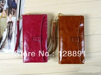 2013 style 100% Genuine Leather oil wax skin women's Long section of the multi-card wallet Christmas gifts J2167