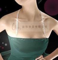 2 metal rhinestone halter-neck shoulder strap the bride wedding dress diamond no tape shoulder pectoral girdle underwear bra