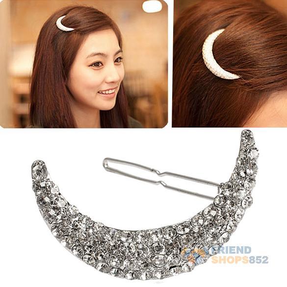 #F9s Crystal Moon Rhinestone Hair Clip Bang Clip Headdress Hairpin Clamps New(China (Mainland))