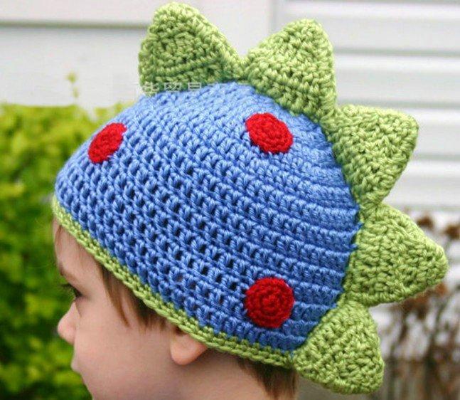 Patron gorro dinosaurio crochet - Imagui